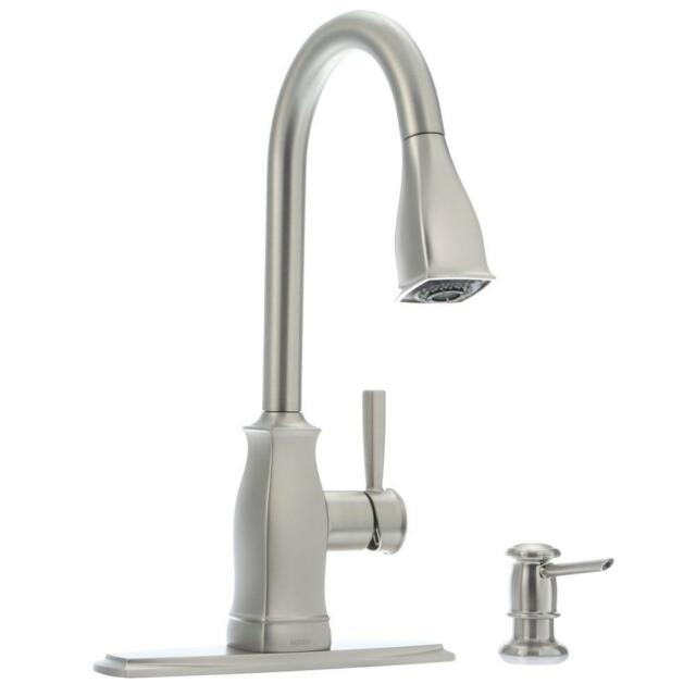 moen 87024msrs hensley single handle pull down sprayer kitchen faucet stainless