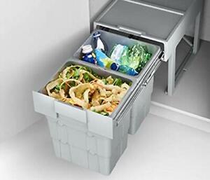 under sink counter grey recycle bin