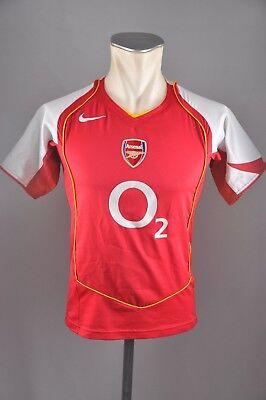 arsenal london trikot gr l kinder 152 158 nike 2004 2005 jersey home o2 rot ebay
