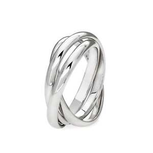 image is loading genuine 925 sterling silver 3 band russian wedding