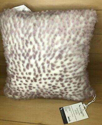 koolaburra by ugg faux fur 20 x 20 mauve rosie decorative pillow ebay