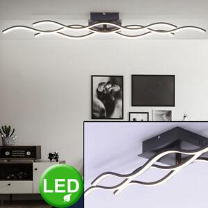 details sur plafonnier led vagues design chambre salon eclairage luminaire ondule noir neuf