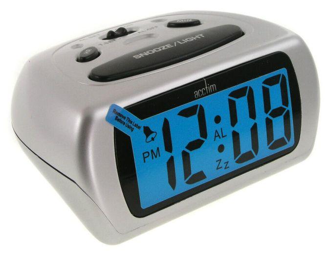 Acctim Auric 12340 Silver Lcd Alarm