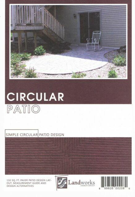 landscape plans circular patio brick paver layout landworks design group diy