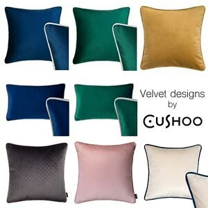 details about velvet cushions rectangle cushion navy blue blush pink green grey sofa case