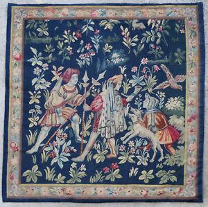 details sur tapisserie ancienne tapis ancien rug europeen francais france aubusson 1900