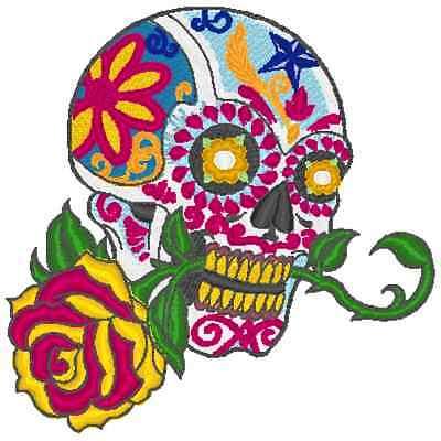 Embroidery Machine Pattern Designs 11 Skulls And Sugar Skull Designs Ebay