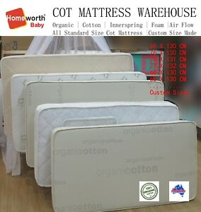 Image Is Loading Australia Made Organic Cotton Innerspring Mattress Cot Single
