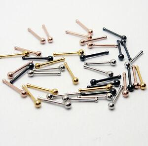 8er SET Nasenpiercing Nasenstecker Piercing Nase Kugel Stift Nose stud NKG