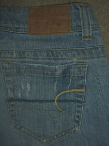 AMERICAN EAGLE AE Artist Boot Stretch Blue Denim Jean Womens Size 2 Short x 28.5
