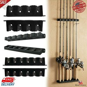 details about horizontal or vertical rod rack fishing boat gear pole storage stand holder wall