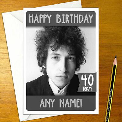 Bob Dylan Personalised Birthday Card A5 Folk Music Ebay