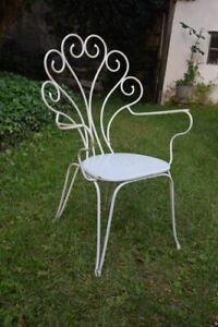 details sur fauteuil chaise salon de jardin fer forge rislan vintage design
