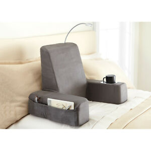details about carepeutic spine relax backrest bed lounger reading pillow with heated comfort