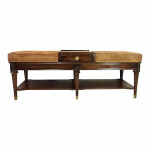 details about cth sherrill occasional living room ottoman cocktail table