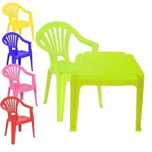 Dettagli Su Per Bambini In Plastica Tavolo E Sedie Nursery Set Uso Interno Unisex Regalo Migliore Mostra Il Titolo Originale