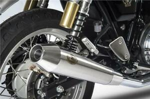 details about zard slip on exhaust stainless steel royal enfield interceptor 650 2020