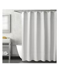 haven escondido 84 long white shower curtain 100 organic cotton waffle quilted