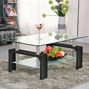 details about new modern center tables rectangle glass coffee table living room coffee table