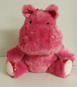 Hallmark Hippo Lola Plush Pink Talking Stuffed Animal 6277