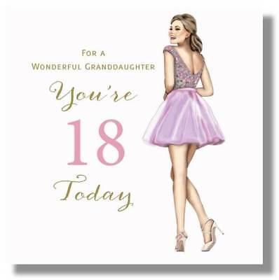 Happy 18th Birthday Greeting Card For A Wonderful Granddaughter By Mary Kirkham Ebay
