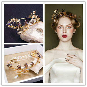 vintage wedding bridal gold queen crown tiara hair accessories headband jewelry ebay