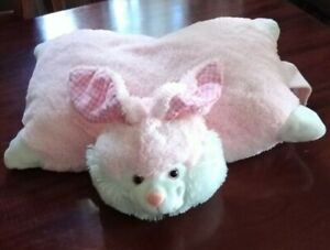 details about pillow pets pink bunny plush toy
