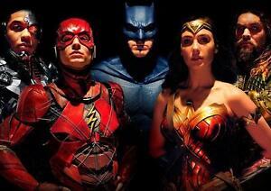 details zu justice league poster batman wonder woman the flash aquaman poster a3 a4