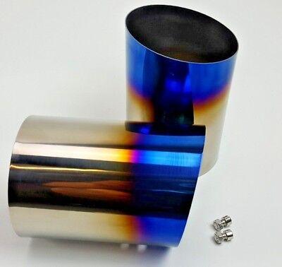 circuit werks true titanium slip on exhaust tips angle cut 4 bmw 335i e90 e92 ebay