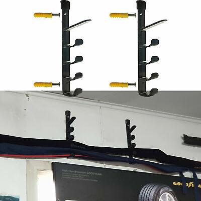 5 rod horizontal wall mounted fishing rod holder storage rack boat yacht garage ebay