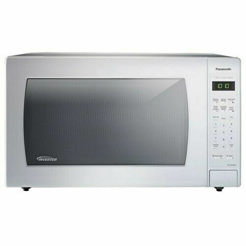 panasonic 2 2 cu ft countertop microwave oven with inverter technology white for sale online ebay