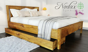 image is loading new solid wooden pine 5ft king size bed