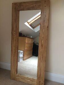 Beautiful Quality Handmade Chunky Rustic Full Length Wooden Mirror EBay