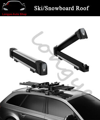 ski snowboard roof mounted top carrier rack fits for audi q5 2009 2017 ebay