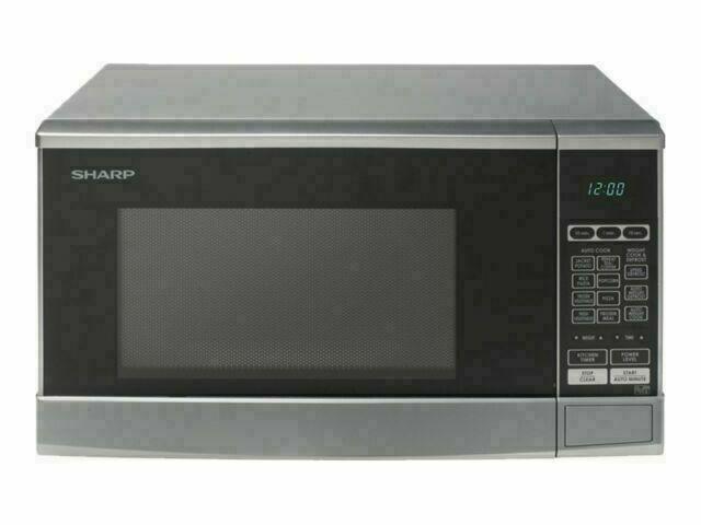 sharp r270slm 20l 1500w compact microwave silver