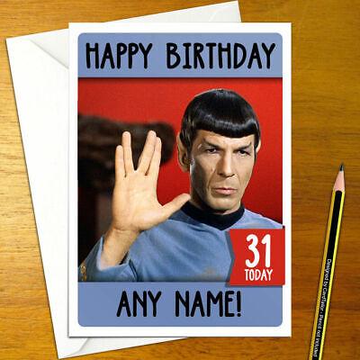 Star Trek Personalised Birthday Card A5 Generations Picard Spock Klingon Borg Ebay