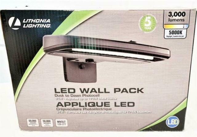 lithonia lighting olw 23 m2 dark bz led outdoor wall pack area light