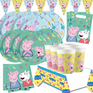 Peppa Pig Party Supplies Tableware Birthday Party Decoration Girls Boys Children Ebay