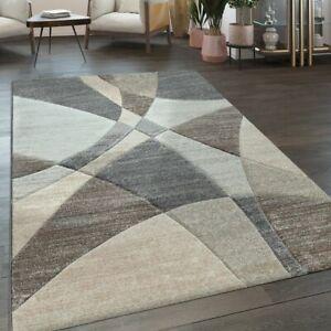 details sur tapis poils ras salon moderne motif geometrique bleu pastel