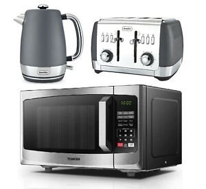 details about toshiba microwave oven one touch express with breville strata kettle and toaster