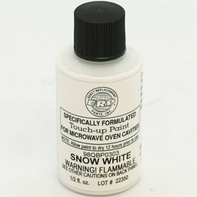 microwave oven universal cavity touch up paint 98qbp0303 snow bright white