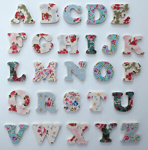 Girls Floral Alphabet Wooden Letters Children s names   eBay Image is loading Girls Floral Alphabet Wooden Letters Children 039 s