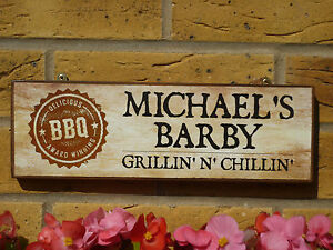 details about personalised bbq sign barbecue sign chillin and grillin sign outdoor patio signs
