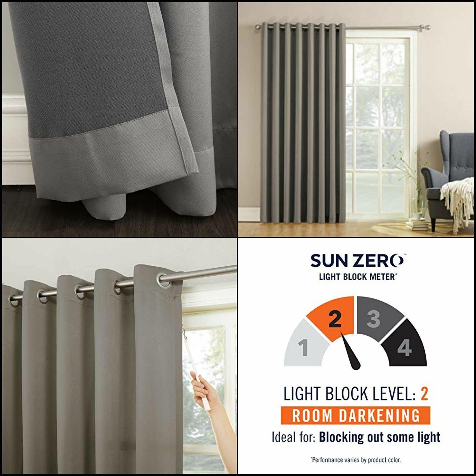 sun zero barrow extra wide energy efficient sliding patio door curtain panel x