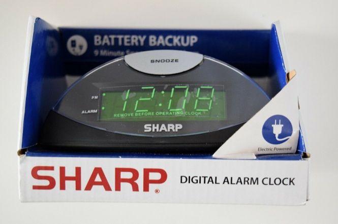 Pb Digital Alarm Clock Green In