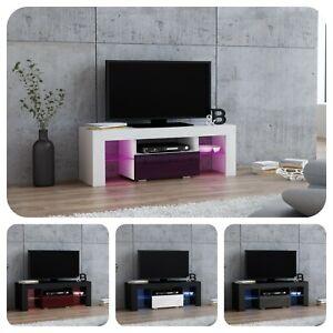 Moderne Meuble Tv Avec Televiseur De 110 Cm Tiroir Brillante 8 Couleurs M11 Ebay