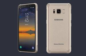 "SAMSUNG GALAXY S8 ACTIVE - GOLD -NEW- GSM UNLOCKED (AT&T VERSION) 64GB 5.8"" 12MP"