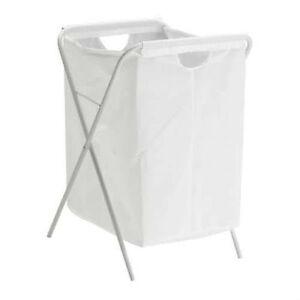 details sur ikea manifestaient blanc linge lavage linge vetements panier sac avec pliable support neuf afficher le titre d origine
