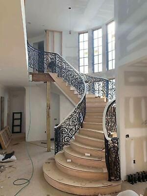 Beautiful Hand Wrought Custom Wrought Iron Stairway Railings 24   Rod Iron Interior Railings   Iron Work   White   Steel   Route   Staircase