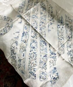 ANTIQUE CHINESE QING ERA 10 UNCUT EMBROIDERED SLEEVE BANDS ON SILK PANEL